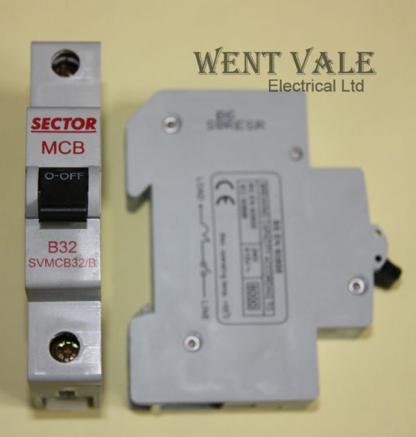 Sector SVMCB32/B - 32a Type B Single Pole MCB New